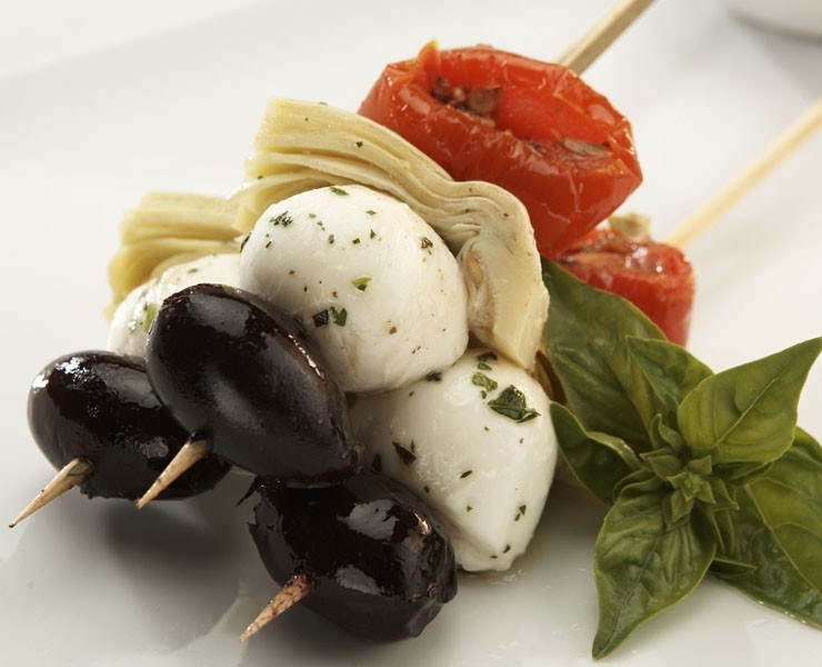 Antipasto Skewers Recipe — Dishmaps