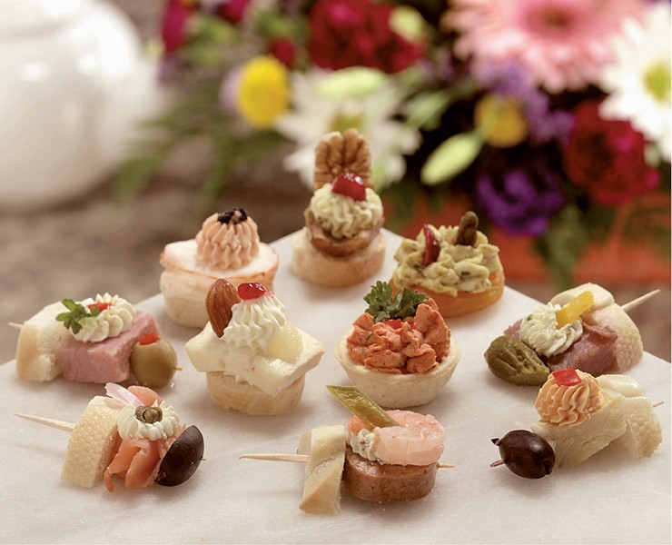 Assorted cold canapes for Cold canapes