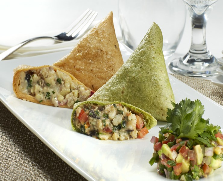 Breakfast Quesadilla: Spinach, Mushroom & Feta - Kabobs - buy / order ...