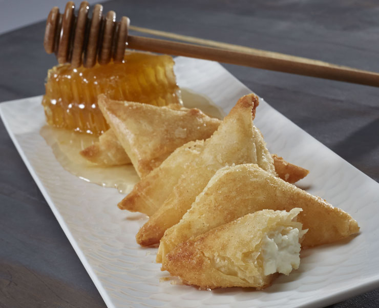 Goat Cheese & Honey Phyllo Triangle