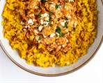 Latin Chicken Tinga with Yellow Rice