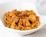 Jambalaya with Chicken, Shrimp, & Andouille Sausage