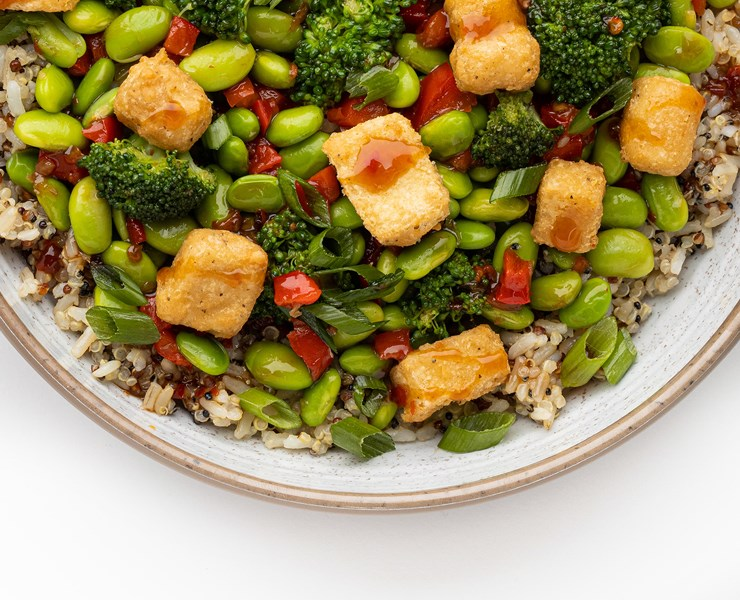 Teriyaki Tofu Grain Bowl